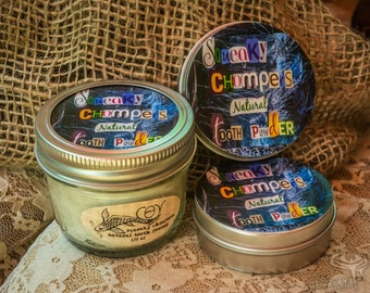 squeaky chompers: natural tooth powder