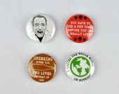 Charles Bukowski Badges, Poet, Alcohol, Post Office, Ham on Rye, Notes of a Dirty Old Man.