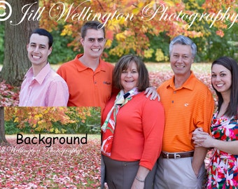 DIGITAL Fall Background for adults, families, children, kids, photo backdrop: Autumn Glory