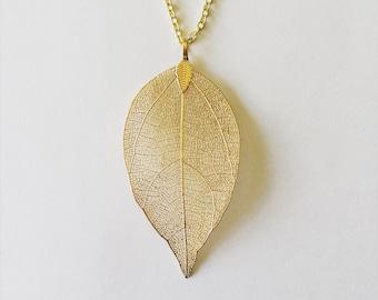 Gold or silver leaf pendant