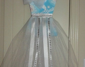 Tutu bow holder -Ice Queen