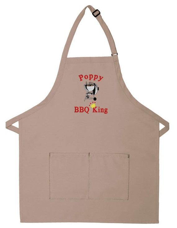 Personalized Apron BBQ King Adult Bib Apron