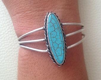 Bracelet, Gemstone Bracelet, Turquoise Bracelet, Handmade Bracelet, Gift for Her