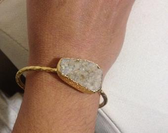 Bracelet, Gemstone Bracelet, Adjustable Bracelet, Adjustable  Gemstone Bracelet, Hand Made Bracelet, Raw Bracelet, white bracelet, gift