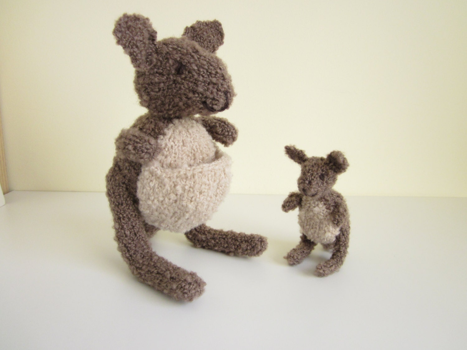 Kangaroo Pouch Knitting Pattern : Cute kangaroo toys knitting pattern
