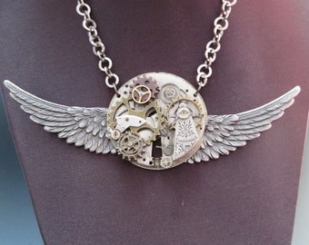 "Necklace:  ""Steampunk Time"""