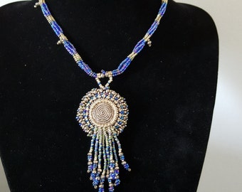 Blue Dream Beaded Necklace