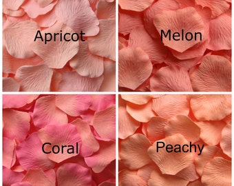 Peach Silk Rose Petals, 300 petals