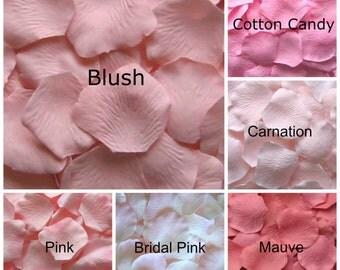 Pale Pink Silk Rose Petals, 300 petals