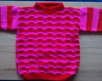 116/6-Rose-Red toddler sweater
