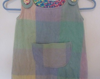 Toddler Tunic dress - upcycled wool blanket