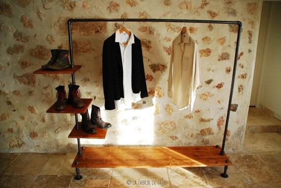 livraison gratuite portant v tement avec tag res penderie. Black Bedroom Furniture Sets. Home Design Ideas