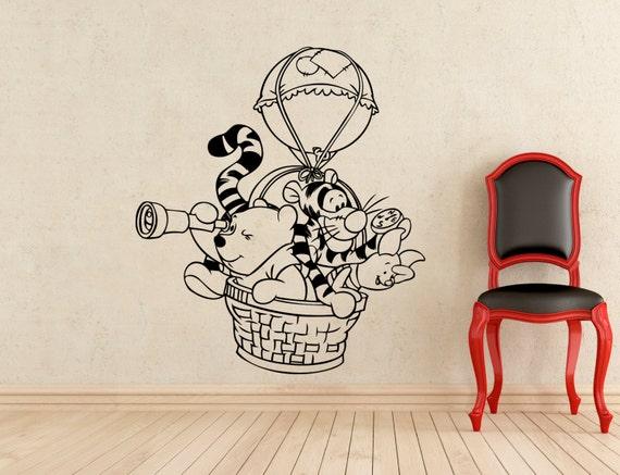 winnie the pooh wall sticker pooh bear tigger piglet balloon rmk1499gm pooh amp piglet giant wall stickers
