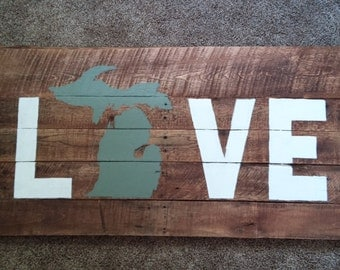 Michigan Love Pallett Wall Art
