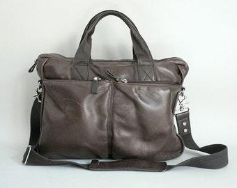 Womens Large Shoulder Bag Brown Leather