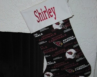 AZ Cardinals Personalized Christmas Stocking