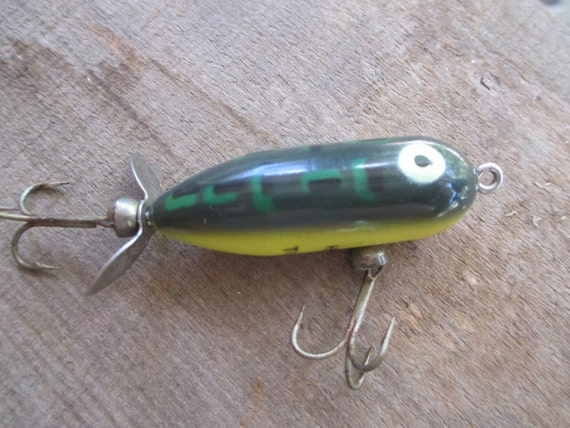Heddon fishing lure tiny torpedo lure painted by for Torpedo fishing lure