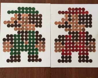 Mario & Luigi Wall Art