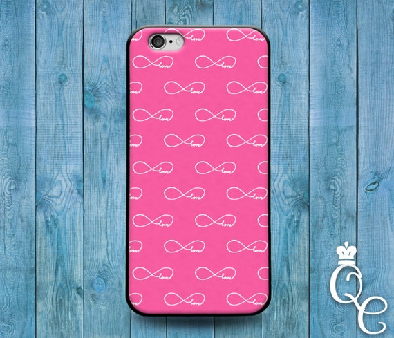 iPhone 4 4s 5 5s 5c SE 6 6s 7 plus iPod Touch 4th 5th 6th Generation Phone Case Cute Girly Girl Love Pink Infinity Infinite Forever Cover
