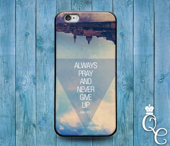 iPhone 4 4s 5 5s 5c SE 6 6s 7 plus iPod Touch 4th 5th 6th Gen Custom Phone Case Cute Bible Verse Motivational Quote Never Give Up Fun Cover