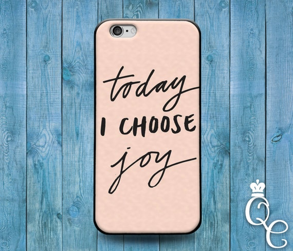 iPhone 4 4s 5 5s 5c SE 6 6s 7 plus + iPod Touch 4th 5th 6th Generation Phone Case Cute Sun Bible Verse Quote Today I Choose Joy Life Cover