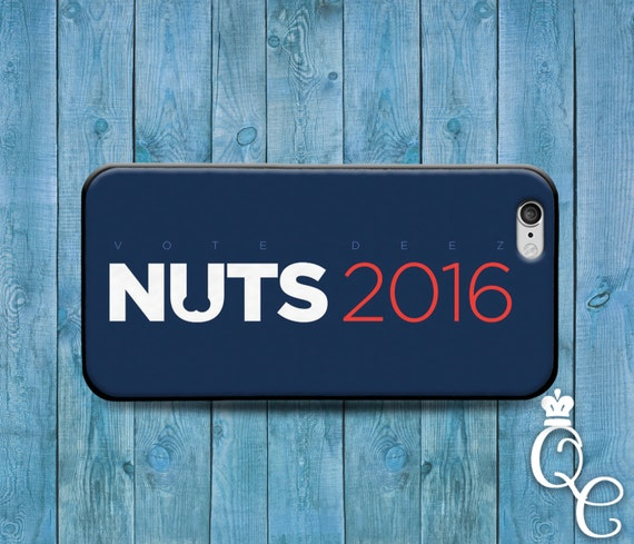 iPhone 4 4s 5 5s 5c SE 6 6s 7 plus iPod Touch 4th 5th 6th Generation Cover Funny Custom Vote President 2016 Nuts Politics Cute Phone Case