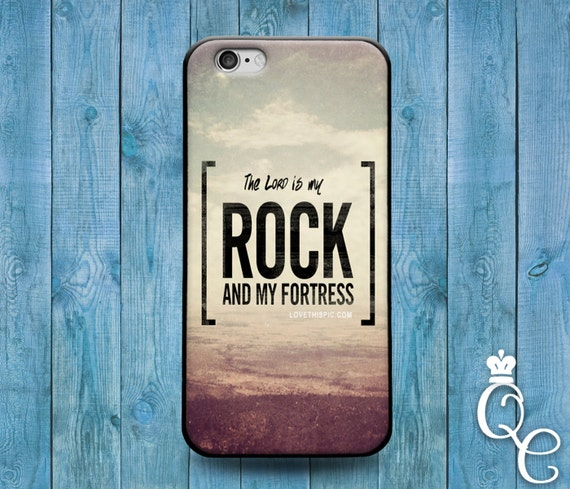 iPhone 4 4s 5 5s 5c SE 6 6s 7 plus iPod Touch 4th 5th 6th Gen Cover The Lord is My Rock Fortress White Cool Cute Quote Mist Cloud Phone Case