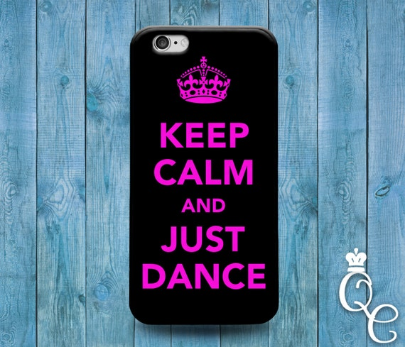 iPhone 4 4s 5 5s 5c SE 6 6s 7 plus + iPod Touch 4th 5th 6th Generation Funny Cover Pink Black Keep Calm Quote Dance Ballerina Phone Case