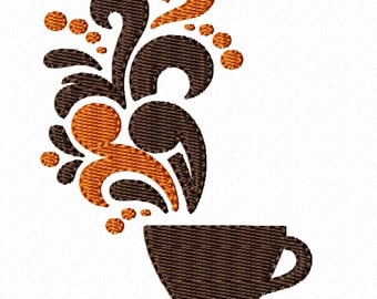 Good Morning Cup- Machine Embroidery Design for the Kitchen