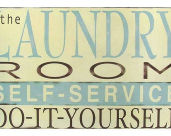The laundry room self-service do-it-yourself