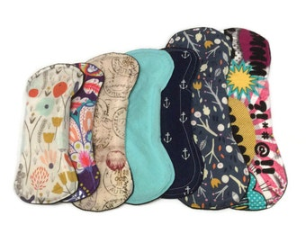 Starter cloth pad set of 7 *Choose fabric or receive MYSTERY PACK*