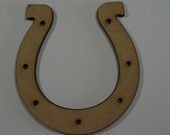 Horse Shoe with Holes cutout