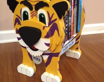 """LSU Mike the Tiger """"Tiger Tales"""" Bookshelf"""