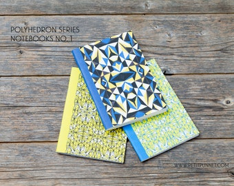 Set of 3 Pocket Notebooks: Polyhedron Series No.1