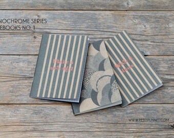 Set of 3 Pocket Notebooks: Monochrome Series No.1