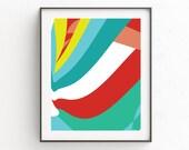 Colorful Abstract Wall Print. Bright Abstract Wall Print, Colorful Modern Wall Print, Bright Abstract Art Print, Abstract Art, Boho Decor