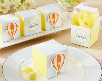 Up Up & Away Hot Air Balloon Favor Box - Baby Shower - Birthday Candy Box - Cupcake Boxes - 10 pcs