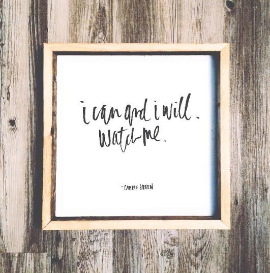 Inspirational Quotes On Wood: 16x16 I Can And I Will Watch Me Wooden Sign Inspirational