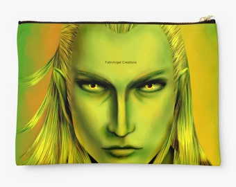 Tolkien Carry-All Pouch, Green Legolas Greenleaf, 2 Sizes Available!