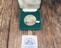 The tower mint - Windsor Castle / Prince Charles and Princess Diana coin, solid nickle silver.