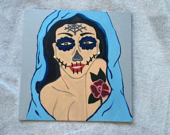 Day of the Dead Girl Painting