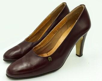 Vintage Etienne Aigner leather oxblood pumps size 8m