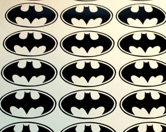 32 Batman Logo Vinyl Stickers Batman symbol Batman wall decal Batman wallpaper Batman Birthday party Batman car decal Batman nursery