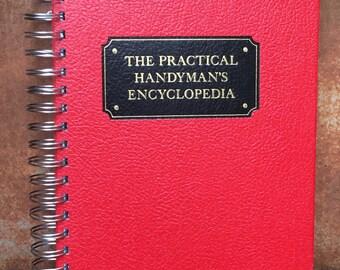 Vintage Book Journal, The Practical Handyman's Encyclopedia