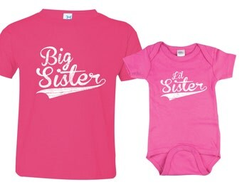 Big Sister Little Sister Shirt set of 2, Sibling Shirts, Big Sisters Baseball shirt and Little Sisters Baseball shirt, BBSib