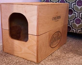 Wine Crate Litter Box (Standard Size)