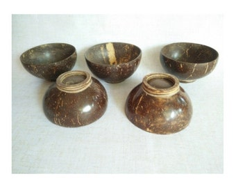 Set of 5 Coconut Shell Cup