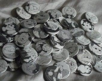 5 Fullmetal Alchemist FMA manga Badges Pins