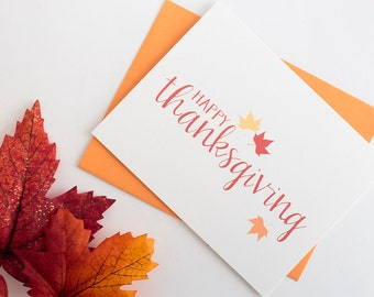 Fall Stationery Set of 10 // Fall Greeting Cards // Autumn Greeting Cards // Fall Leaves // Autumn Leaves // Thanksgiving Card
