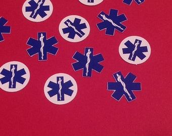 Blue and White EMS confetti,EMT, Medical decorations, Ambulance, 100 pieces